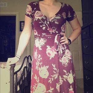 Cute slightly high low flower dress